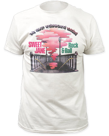 Velvet Underground-Sweet Jane White Fitted T-shirt
