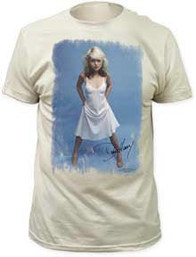 Blondie White Dress Vintage White Fitted T-shirt