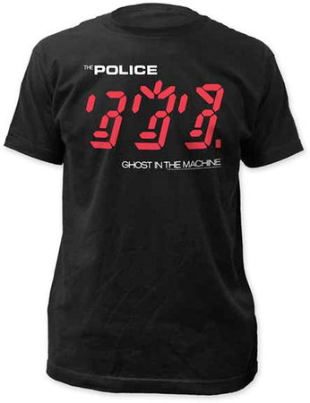 The Police Ghost In The Machine Black Fitted t-shirt