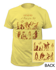Genesis A Trick Of The Tail Banana Yellow Men's fitted t-shirt