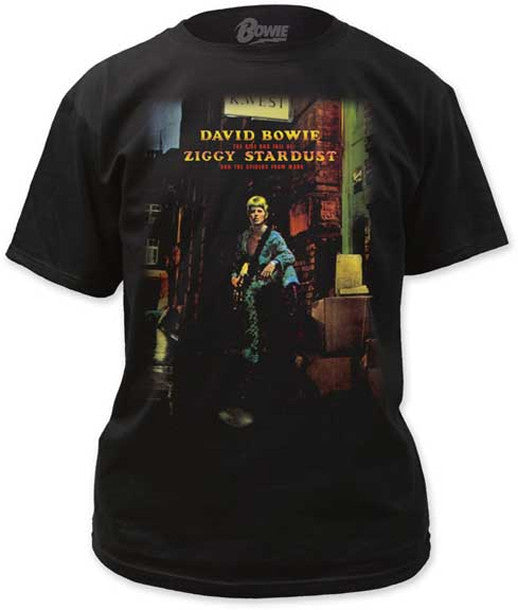 David Bowie Ziggy Played Guitar Black  t-shirt