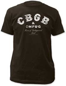 CBGB Classic Distressed Logo Black Fitted T-shirt