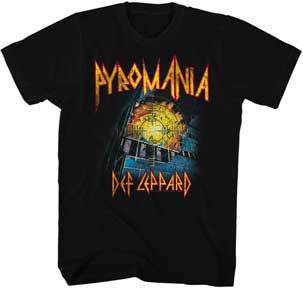 Def Leppard It's On Fire Black t-shirt
