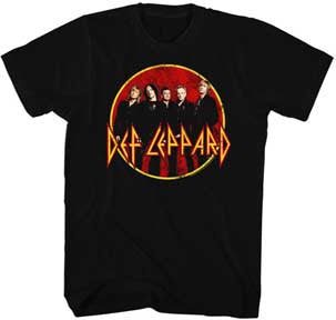 Def Leppard Group Shot Black t-shirt
