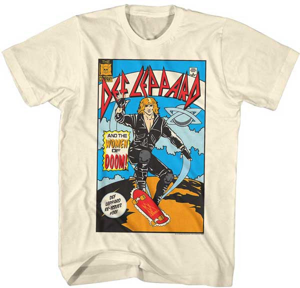 Def Leppard Comic Natural t-shirt