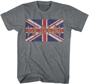 Def Leppard Flag Arctic Gray Heather t-shirt