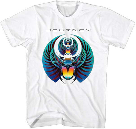 Journey-Scarab-White t-shirt