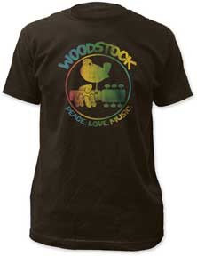 Woodstock Colorful Logo Coal Lightweight t-shirt