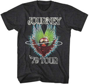 Journey 1979 Tour Black Heather t-shirt