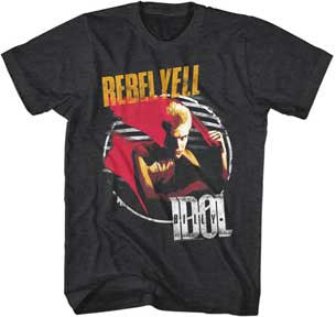 Billy Idol-Rebel Yell-Black Lightweight t-shirt