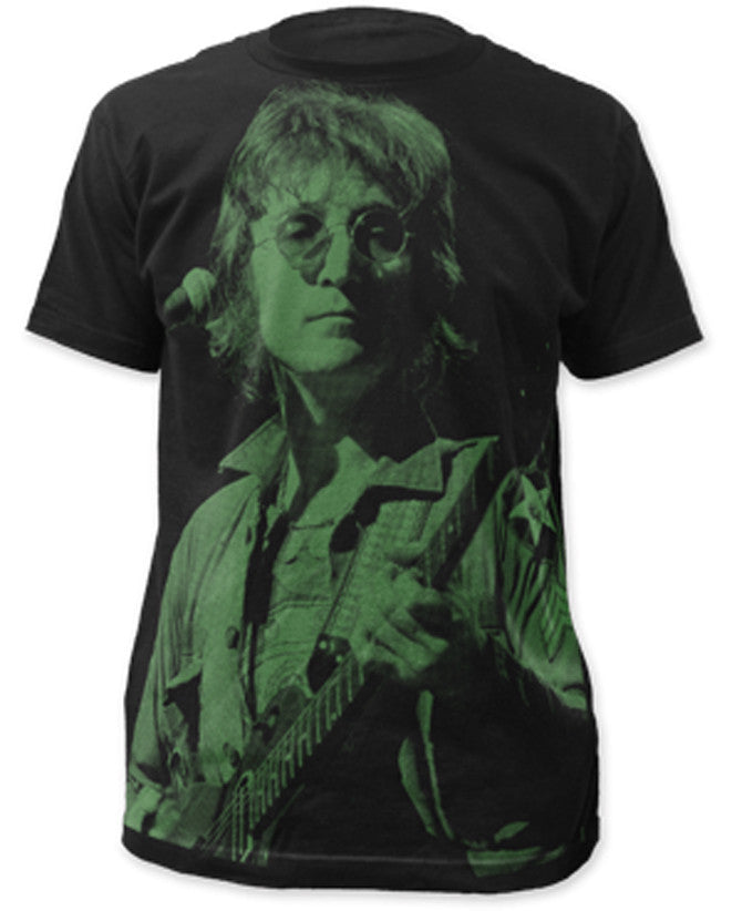 John Lennon-Icon Subway Print-Black Lightweight t-shirt
