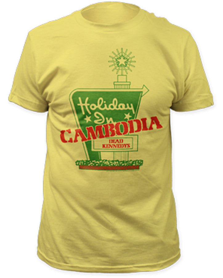 Dead Kennedys-Holiday In Cambodia-Yellow t-shirt