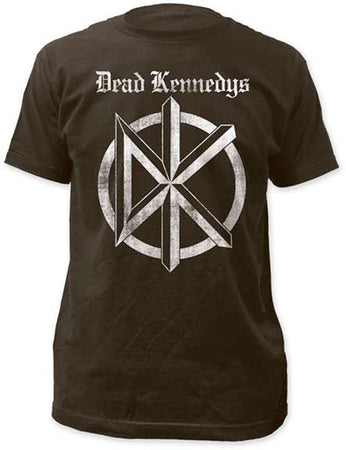 Dead Kennedys-Distressed Old English Logo-Black t-shirt
