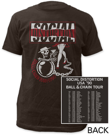 Social Distortion-Ball And Chain Tour-Coal T-shirt