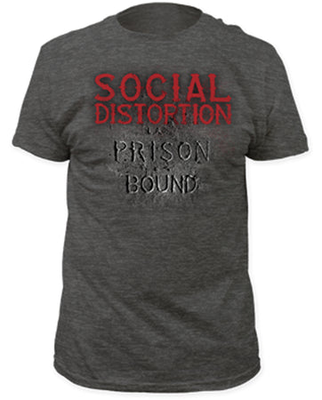 Social Distortion-Prison Bound-Heather Charcoal T-shirt