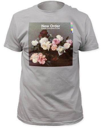 New Order-Power Corruption & Lies-Silver t-shirt