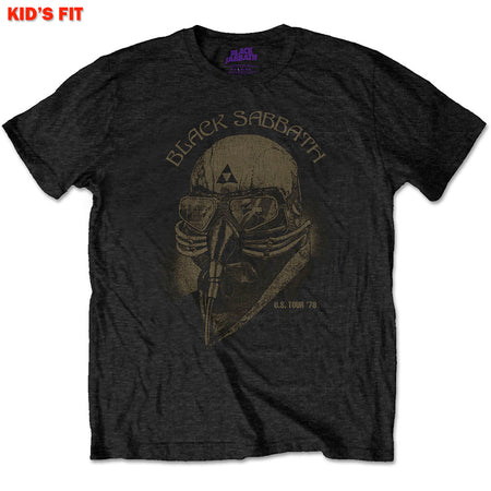 Black Sabbath-US Tour 1978 Avengers-KIDS SIZE Black T-shirt