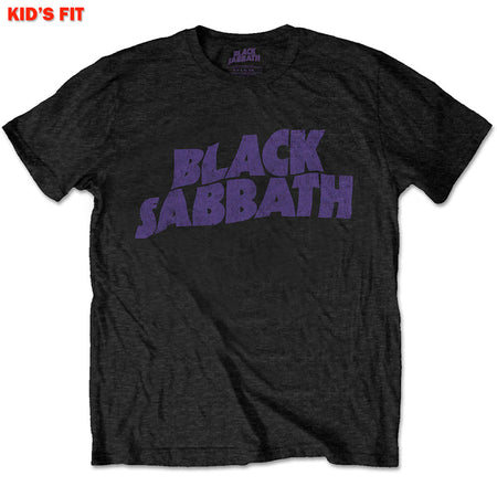 Black Sabbath-Wavy Logo-KIDS SIZE Black T-shirt