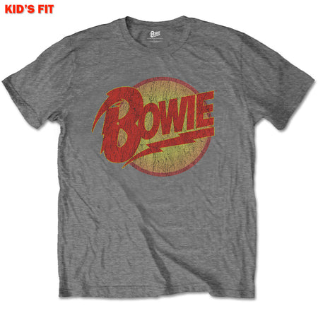 Davdi Bowie - Vintage Diamond Dogs Logo-KIDS SIZE Charcoal T-shirt