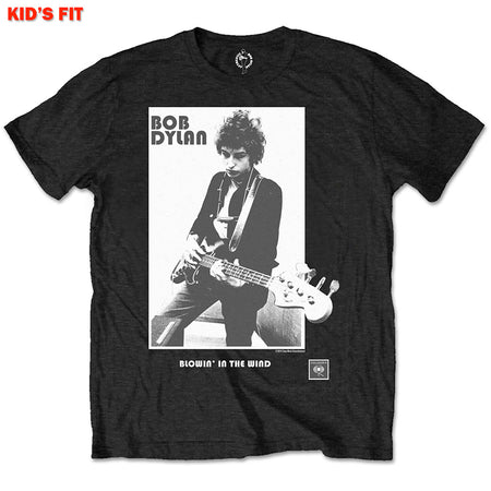 Bob Dylan - Blowing In The Wind-KIDS SIZE Black T-shirt