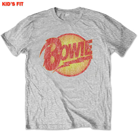 Davdi Bowie - Vintage Diamond Dogs Logo-KIDS SIZE Grey T-shirt