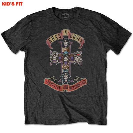 Guns N Roses-Appetite For Destruction-KIDS SIZE Black T-shirt