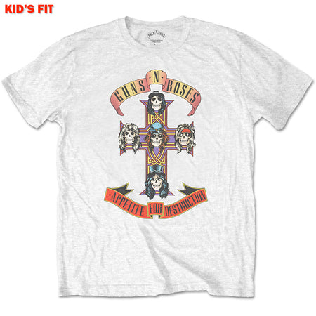 Guns N Roses-Appetite For Destruction-KIDS SIZE White T-shirt