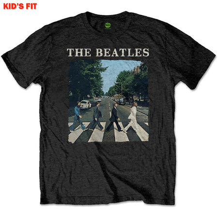 The Beatles-Abbey Road & Logo-KIDS SIZE Black T-shirt