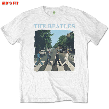The Beatles-Abbey Road & Logo-KIDS SIZE White T-shirt