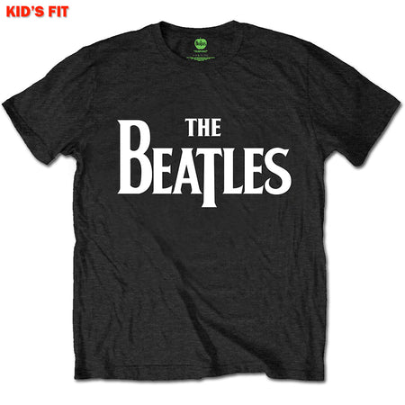 The Beatles-Drop T Logo-KIDS SIZE Black T-shirt