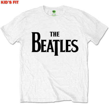 The Beatles-Drop T Logo-KIDS SIZE White T-shirt