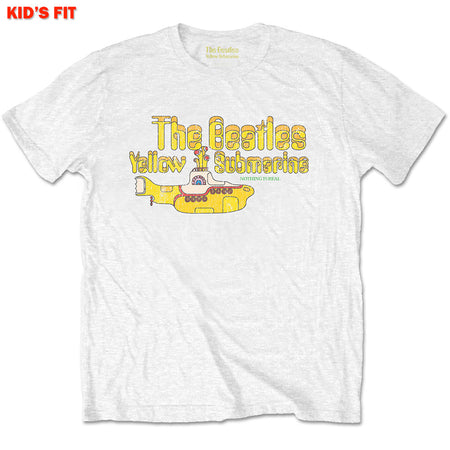 The Beatles-Nothing Is Real-KIDS SIZE White T-shirt