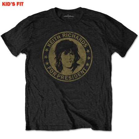 The Rolling Stones - Keith For President-KIDS SIZE Black T-shirt