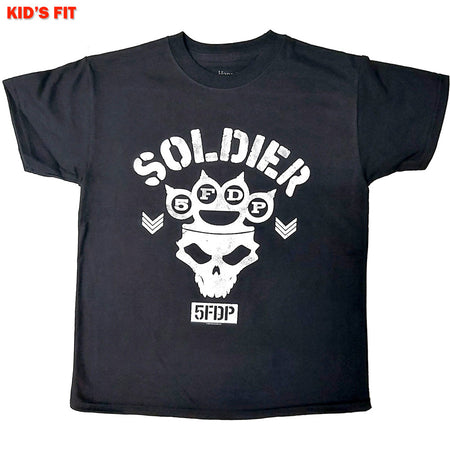 Five Finger Death Punch-Soldier-KIDS SIZE Black T-shirt