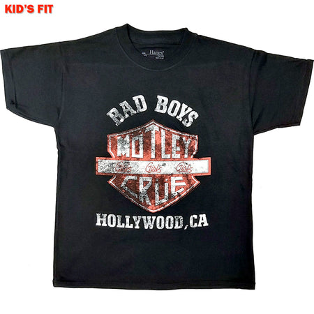 Motley Crue - Bad Boys Of Hollywood-KIDS SIZE Black T-shirt