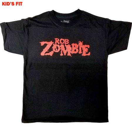 Rob Zombie-Logo-KIDS SIZE Black T-shirt