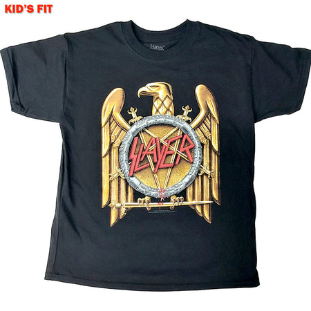 Slayer- Gold Eagle-KIDS SIZE Black T-shirt