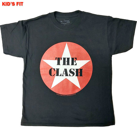 The Clash-Classic Star-KIDS SIZE Black T-shirt
