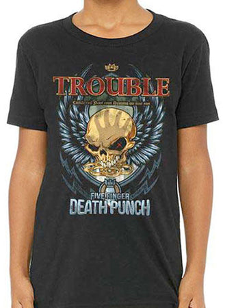 Five Finger Death Punch - Trouble-KIDS SIZE Black T-shirt