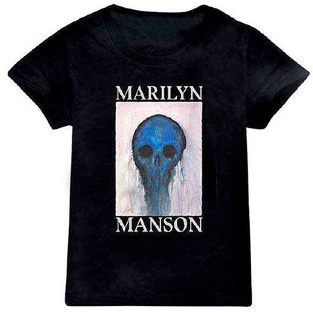 Marilyn Manson - Halloween Painted Holywood-KIDS SIZE Black T-shirt