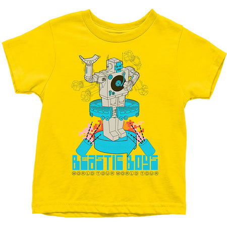 Beastie Boys - Robot-KIDS SIZE Yellow T-shirt