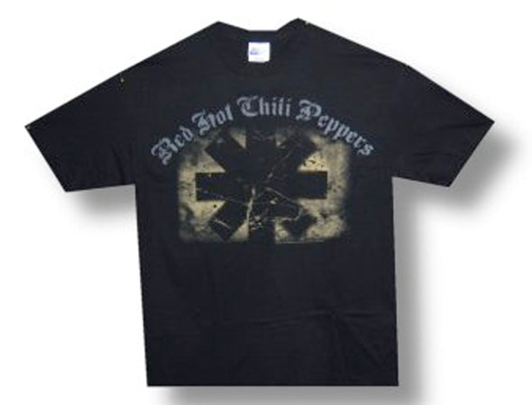 Red Hot Chili Peppers - Distressed Asteriskt-KIDS SIZE Black T-shirt