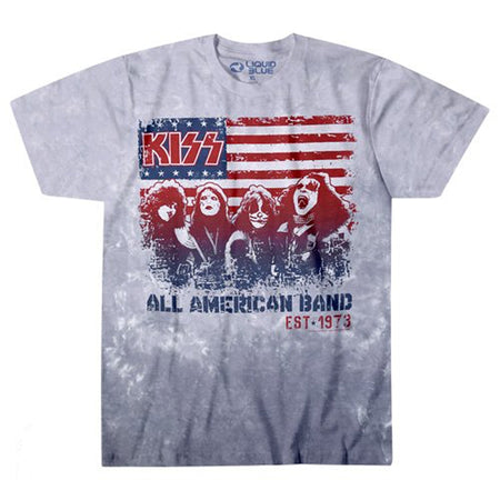 Kiss - All American Band - Tie Dye t-shirt