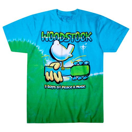 Woodstock - Graffiti - Tie Dye t-shirt