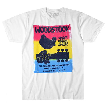 Woodstock - White Lake - White  t-shirt