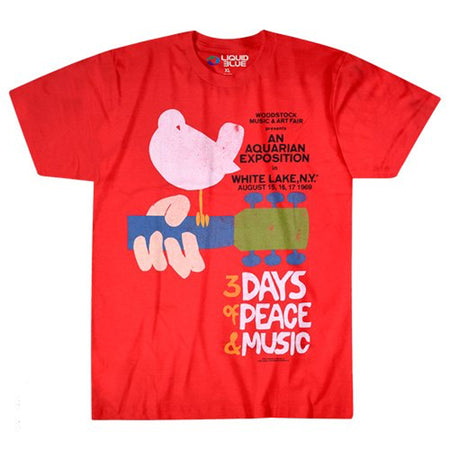 Woodstock - 3 Days - Red t-shirt
