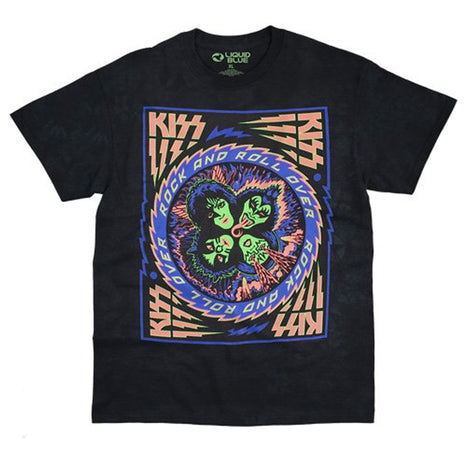 Kiss - Blacklight  Black t-shirt