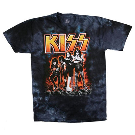 Kiss - Hotter Than Hell - Tie Dye t-shirt
