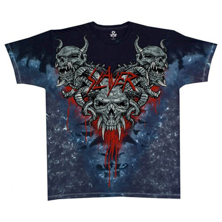 Slayer - Hell Awaits - Tie Dye T-shirt