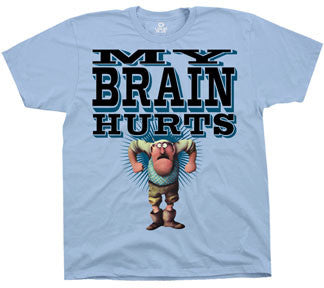 Monty Python My Brain Hurts Blue t-shirt